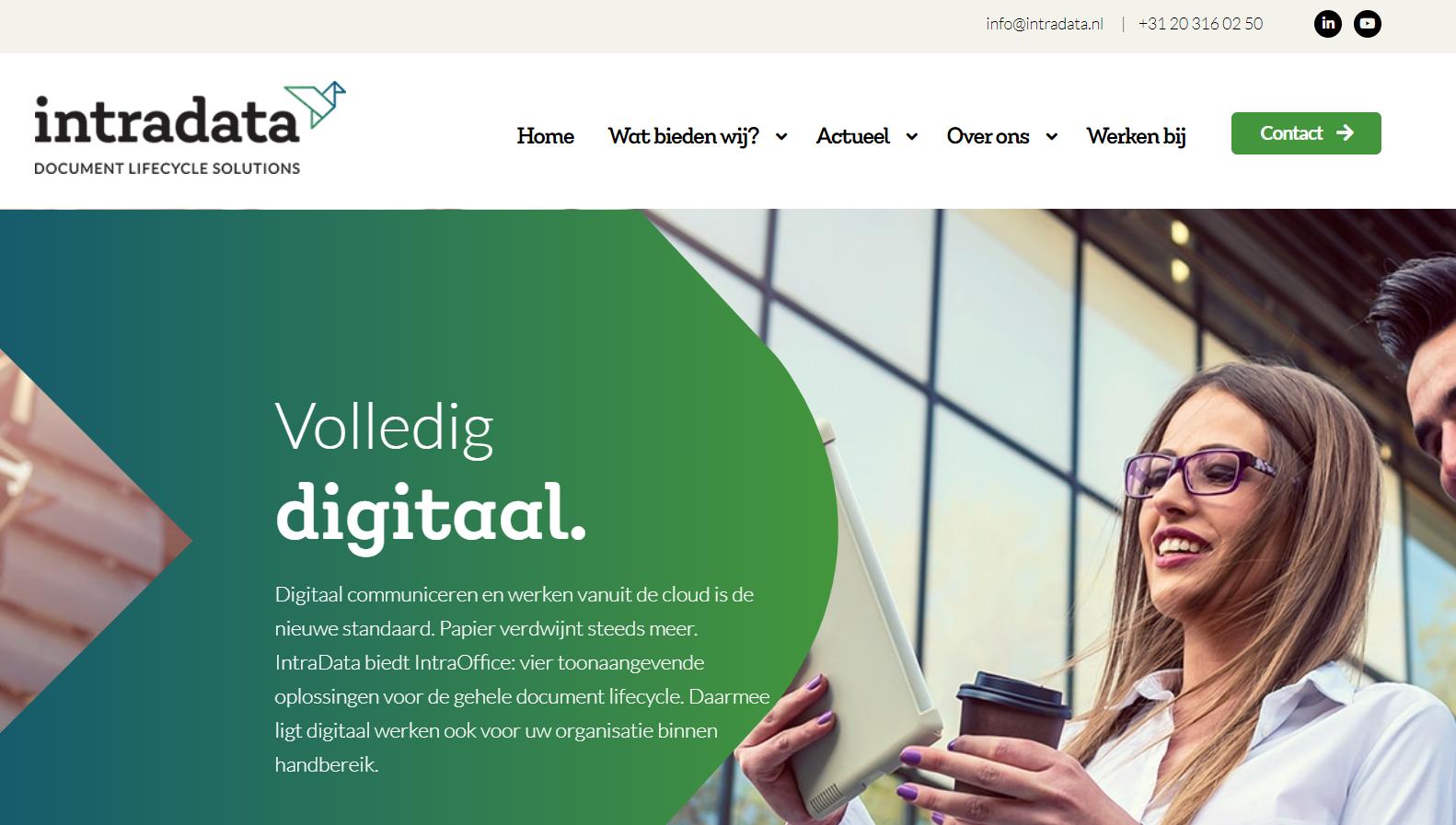IntraData nieuwe website en huisstijl